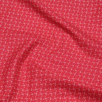 TISSU COTON IMPRIMÉ champignon rose hibiscus X 10 CM pretty mercerie - mercerie en ligne