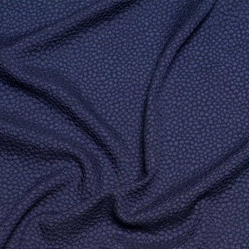 TISSU JACQUARD WILD BLUE x 10 CM - Pretty Mercerie - Mercerie en ligne