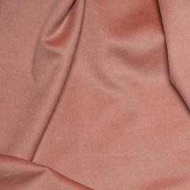 Tissu Laine & Angora Rose Terra Cotta x 10cm