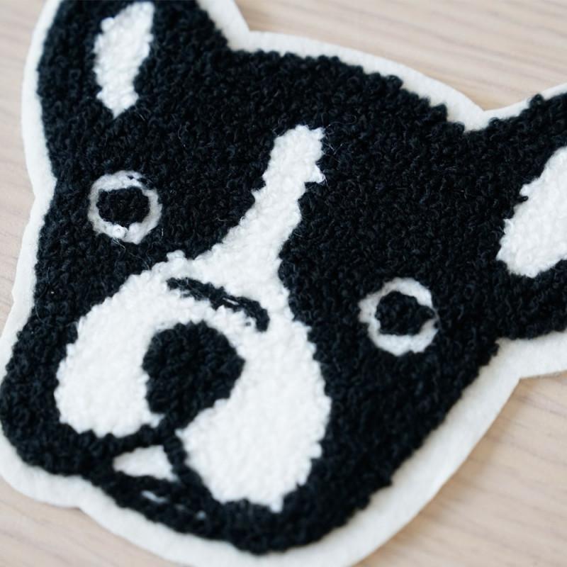 Badge brodé Bulldog - pretty mercerie - customization - mercerie en ligne - mercerie pas cher