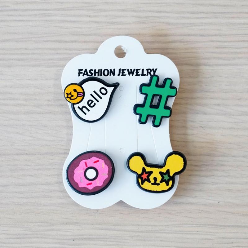 Pins Hello & hashtag & Donuts & Souris- pretty mercerie - customisation - mercerie en ligne - mercerie pas cher