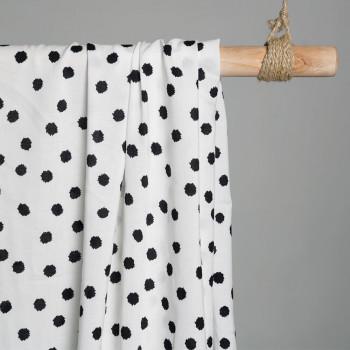Tissu viscose tacheté noir & blanc X 10 CMpretty mercerie - mercerie en ligne - mercerie pas cher
