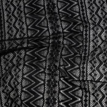 Tissu dentelle noir Ethnique x 10cmpretty mercerie - mercerie en ligne - mercerie pas cher