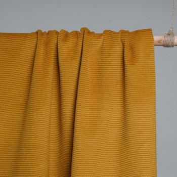 Tissu Laine & Angora Moutarde x 10cm- Pretty Mercerie - Mercerie en ligne - Mercerie pas cher