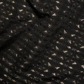 tissu jacquard Black & gold x 10 CM - Pretty Mercerie - Mercerie en ligne - Mercerie pas cher