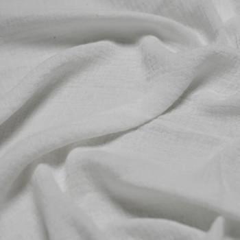 tissu double gaze de coton blanc x 10 cm - Pretty Mercerie - Mercerie en ligne - Mercerie pas cher