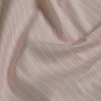 tissu coton imprimé rayé rose & blanc x 10cm - pretty mercerie - mercerie en ligne - mercerie pas cher