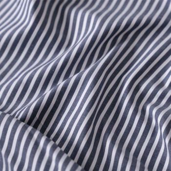 tissu coton tissé rayé bleu & blanc x 10cm- pretty mercerie - mercerie en ligne - mercerie pas cher