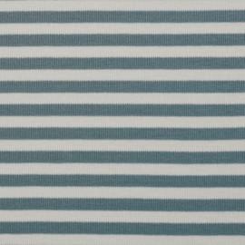 tissu maille côtelé viscose bleu arctique & blanc x 10cm- pretty mercerie - mercerie en ligne - mercerie pas cher