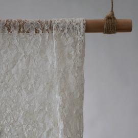 Tissu dentelle petites fleurs blanc - pretty mercerie - mercerie en ligne