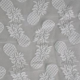 Tissu guipure ananas blanc x 10cm - pretty mercerie - mercerie en ligne - tissu couture - mercerie pas cher