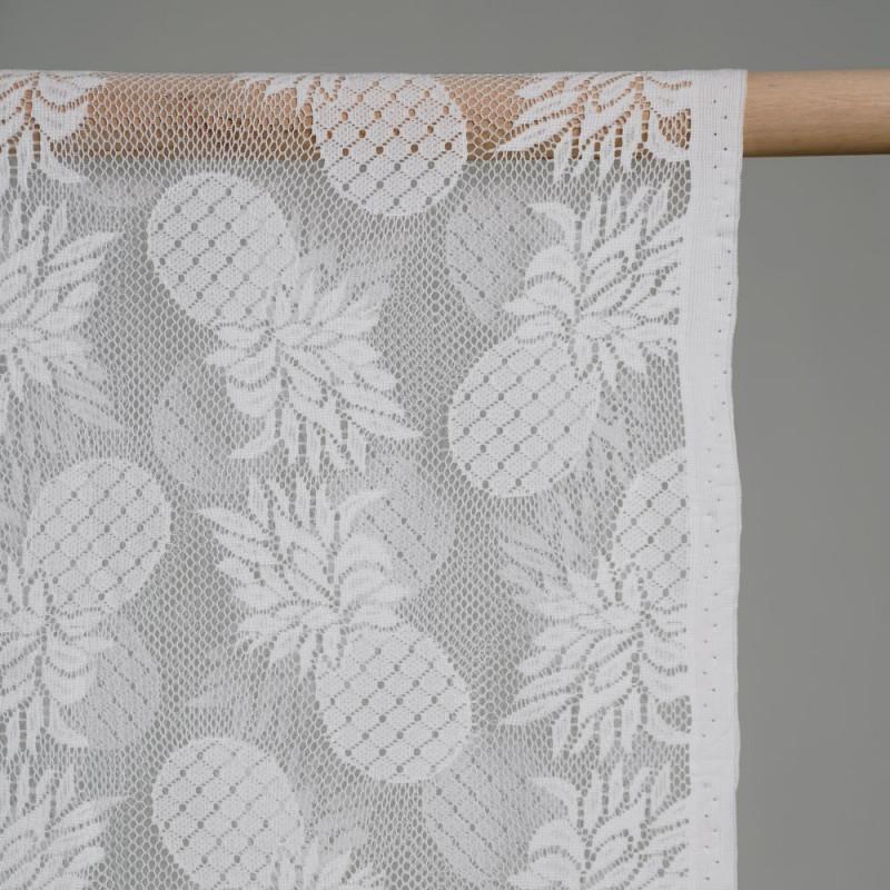 Tissu dentelle ananas blanc - pretty mercerie - mercerie en ligne