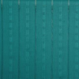 Tissu coton brodé vert céramique x 10cm - pretty mercerie - mercerie en ligne - tissu couture - mercerie pas cher