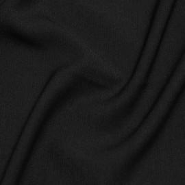 Tissu viscose herringbone noir x 10cm