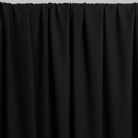 Tissu viscose herringbone noir x 10cm - pretty mercerie - mercerie en ligne - tissu couture - mercerie pas cher