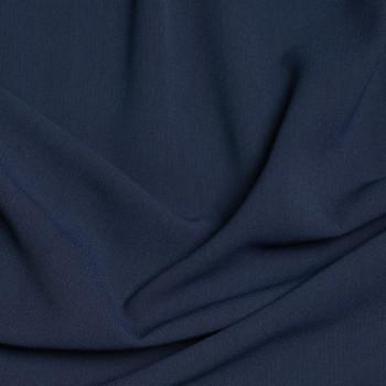 Tissu viscose herringbone bleu marine x 10cm - pretty mercerie - mercerie en ligne - tissu couture - mercerie pas cher