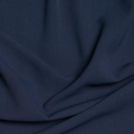 Tissu viscose herringbone bleu marine x 10cm