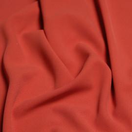 Tissu viscose herringbone Tangerine Tango  x 10cm