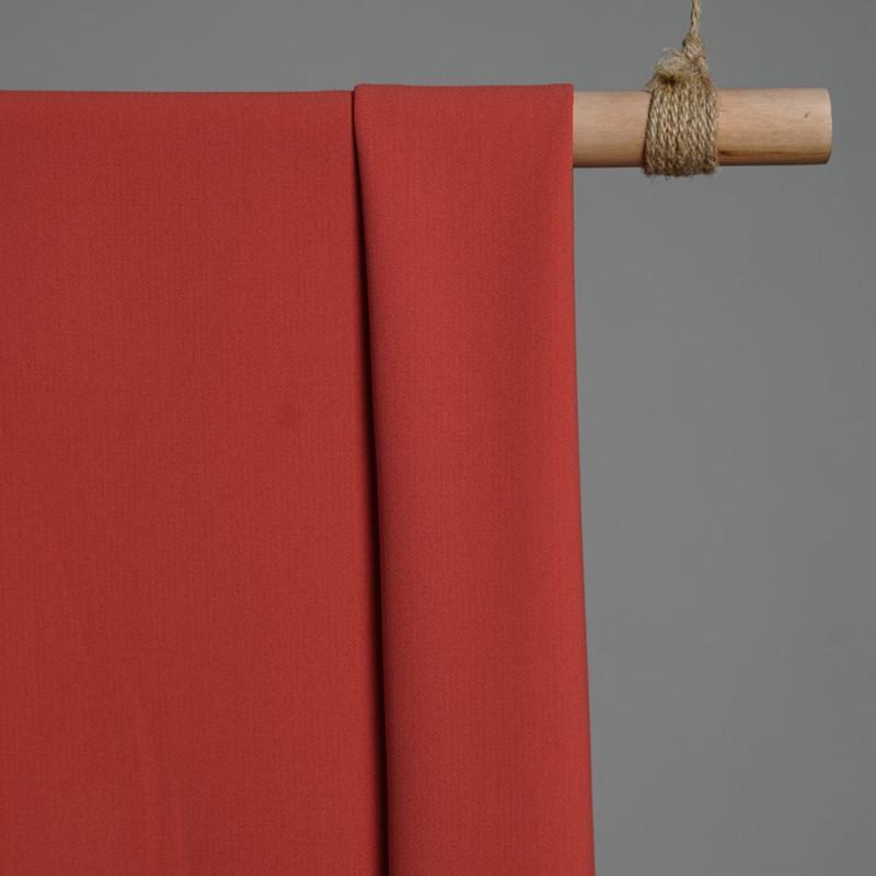 Tissu viscose herringbone brique x 10cm - pretty mercerie - mercerie en ligne - tissu couture - mercerie pas cher