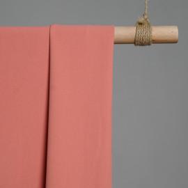 Tissu viscose herringbone corail x 10cm - pretty mercerie - mercerie en ligne - tissu couture - mercerie pas cher
