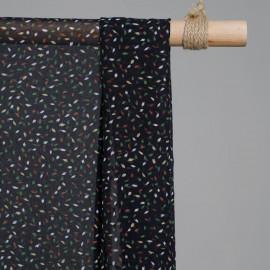 Tissu mousseline tacheté  x 10cm - Tissus couture - tissus pas cher - pretty mercerie