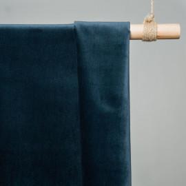 tissu velours vert canard x 10cm - Tissus couture - tissus pas cher - pretty mercerie