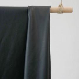 TISSU SIMILI CUIR NOIR  x 10 CM - pretty mercerie - tissus couture - mercerie pas cher