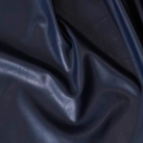 TISSU SIMILI CUIR BLEU NUIT x 10 CM - pretty mercerie - tissus couture - mercerie pas cher