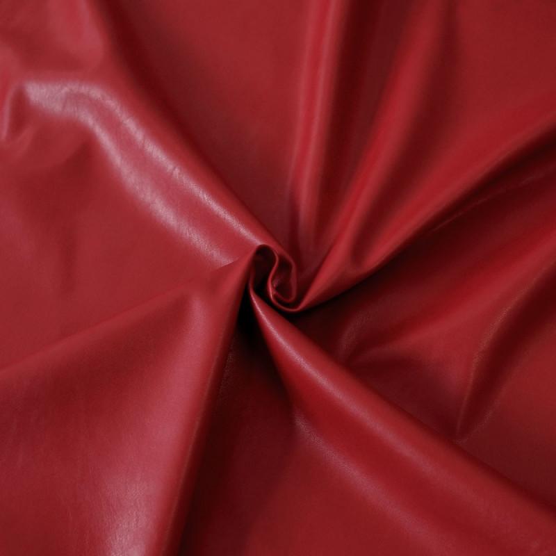 tissu simili cuir rouge tissus en ligne mode pretty mercerie. Black Bedroom Furniture Sets. Home Design Ideas