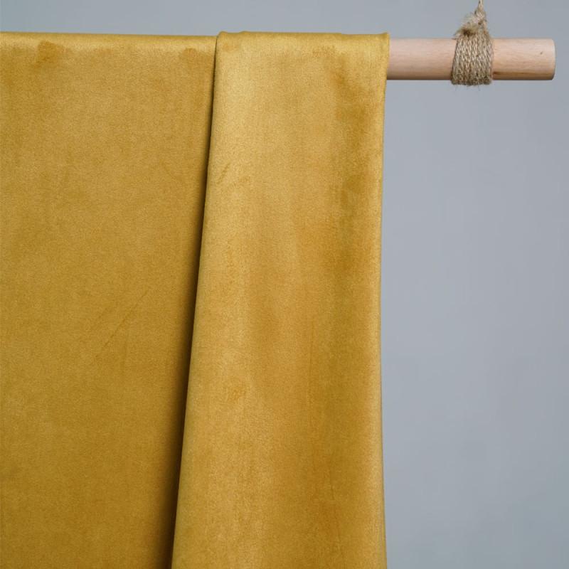 Tissu su dine jaune tissus mode en ligne pretty mercerie - Tissu suedine pas cher ...