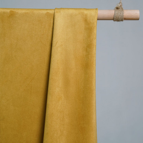 TISSU SUEDINE JAUNE x 10 CM - pretty mercerie - tissus couture - mercerie pas cher