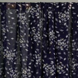achat Tissu mousseline losange bleu et blanc et jaune  x 10cm  - pretty mercerie