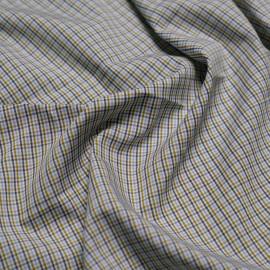 Tissu coton tissé à carreaux vert cresson, blanc, bleu ciel et gris x 10cm