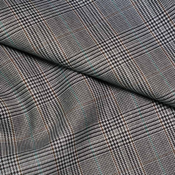tissu lainage maille vert canard motif tissé x 10cm