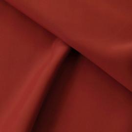 Tissu néoprène viscose alvéolé rouge argile X 10 CM