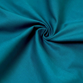 Tissu gabardine bleu canard x 10cm
