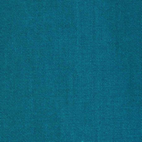 achat Tissu gabardine bleu canard - pretty mercerie - mercerie en ligne