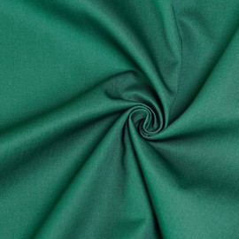 Tissu gabardine vert x 10cm
