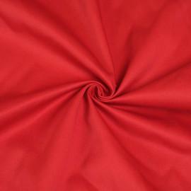 Tissu gabardine rouge x 10cm