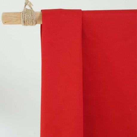 achat Tissu gabardine rouge  - pretty mercerie - mercerie en ligne