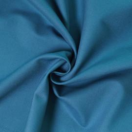 Tissu gabardine bleu paon x 10cm