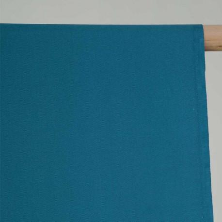achat Tissu gabardine bleu paon - pretty mercerie - mercerie en ligne