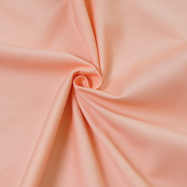 Tissu gabardine rose corail pastel x 10cm