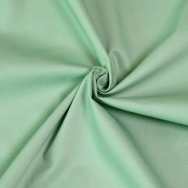 Tissu gabardine vert pastel x 10cm