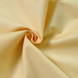 Tissu gabardine jaune pastel x 10cm