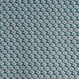 achat Tissu coton vert imprimé mini fleurs - pretty mercerie - mercerie en ligne