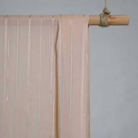 achat Tissu coton et soie rose pêche à ligne argent - pretty mercerie - mercerie en ligne