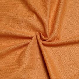 Tissu viscose tissé et ajouré orange X 10 CM