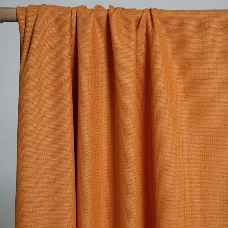 achat Tissu viscose tissé et ajouré orange - pretty mercerie - mercerie en ligne