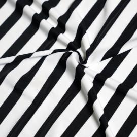 achat TISSU MAILLOT DE BAIN À Rayure noir et blanc - Pretty Mercerie - mercerie en ligne